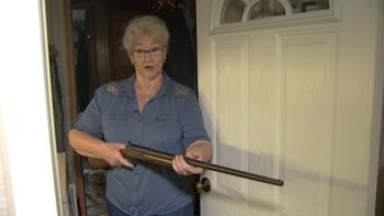 Баба курназ с пушка задържа крадец в дома си