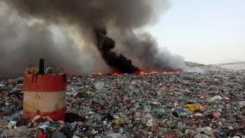 Гори сметището на Асеновград